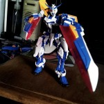 front view with tactical arms in twin sword mode